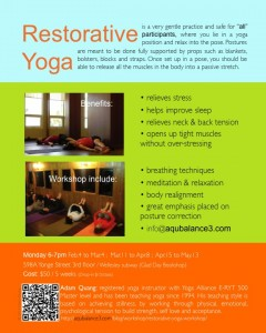 Restorative Yoga Poster may-2013