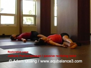 passive reclining twist-Virgin Yoga Workshop