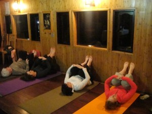 Restorative Yoga at 7 Wonder of nature Halong bay, Vietnam