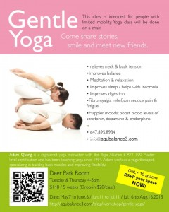 gentle yoga poster May to Aug.2013